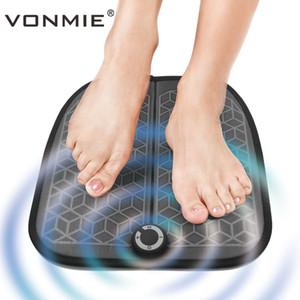 VONMIE EMS 발 마사지 기계 ABS 물리 치료 Revitalizing Pedicure Tens 발 진동기 무선 근육 자극기 USB 충전식