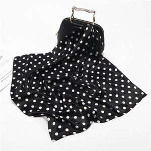 New 60x60cm Polka Dot Neck Tie Scarf Women Cute Decoration Small Square Hair Head Wrap Scarves Satin Bag Scarfs for Ladies Gift
