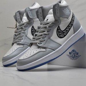 Quality Díòr Air Jòrdàn 1 Kànyé Wést B23 B24 Oblique Slipper High Top Sports Low KÁWS Kím Jònés Hommes Femme Basketball Sneakers Men Shoes