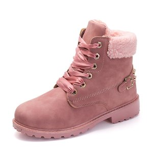 Cheap Autumn and winter new Martin boots women's cotton plus velvet warm boots rivet women's boots boots2019