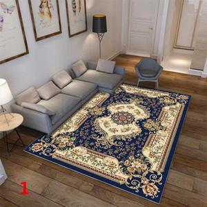HobbyLane retro alfombra alfombra antideslizante impresión Suelo Alfombra para sala de estar Mesa de dormitorio decoración de la habitación