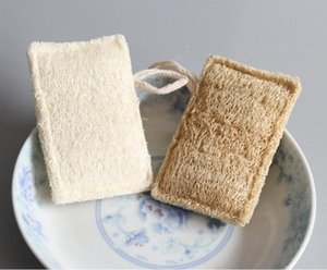 Natural Loofah Pad Rectangle Shaped Exfoliating Luffa Remove the Dead Skin Perfect For Bath Shower And Spa