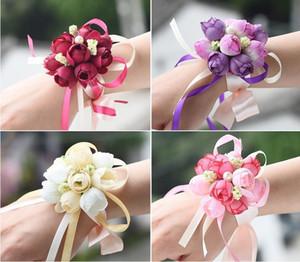 Imitación flores simulación hermana muñecas flor boda novia decoración de baile dama de honor muñeca muñeca corsage decorativo bouquet HWC111