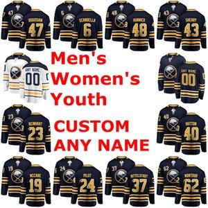 Buffalo Sabres Jerseys Zach Bogosian Jersey Marco Scandella Matt Hunwick Conor Sheary Blue White Hockey Jerseys Custom Stitched