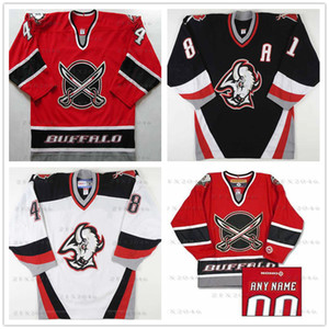 Individuelle Buffalo Sabres 44 Alexei Zhitnik 48 Daniel Briere 39 Dominik Hašek 29 Pominville 9 ROY Hockey Jersey sitched jeden beliebigen Namen Your Number