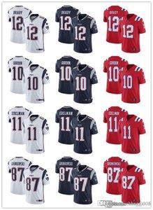 Mens Womens YouthNew EnglandsPatriots12 Tom Brady 87 Rob Gronkowski 11 Julian Edelman 10 Josh Gordon custom Football Jerseys