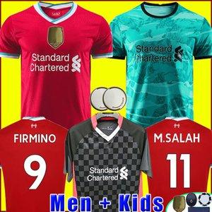 Liverpool camisa de futebol 20 21 LVP camisa de futebol 2020 2021 M. SALAH Thiago VIRGIL MANE FIRMINO KEITA MILNER SHAQIRI uniformes campeões goleiro homens + kit de crianças
