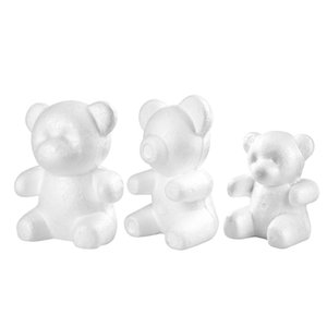 Home & Garden Wedding Decoration 15 20 30CM Polystyrene Styrofoam Modeling Bear Foam White Bear Foam Gifts Heart Ball Navidad Xmas Gift