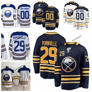 2018 Winter Classic Jason Pominville Buffalo Sabres Hockey Maglie Mens nome personalizzato 29 Jason Pominville magliette cucite S-XXXL