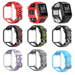 Two-tone Replacement Watchband Silicone Band Strap For TomTom 2 3 Series Runner 2 3 Spark 3 Series Golfer 2 Adventurer GPS Watch