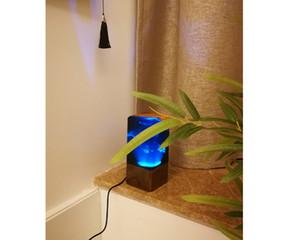 unique table lamp wooden light wooden interior decor unique new 2019 novelty design art epoxy handmade gift wedding home casa