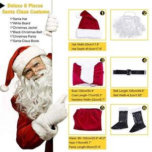 Tema del nuovo arrivo Costume Natale Babbo Natale Costumi Natale Santa Fancy Suits Costumi Abiti Cosplay per feste