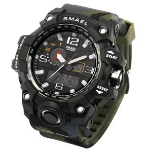 G Estilo C19010301 Militar de Homens LED Digital-relógio Smael camuflagem do exército Electronic Shock Moda 2017 relógio de pulso relógios para desporto M OPFs