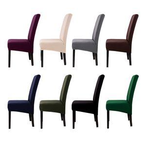 Impression solide flexible élastique anti-sale Big Chair Cover Banquet Hôtel Restauration Décoration Chaise grande taille XL Slipcover