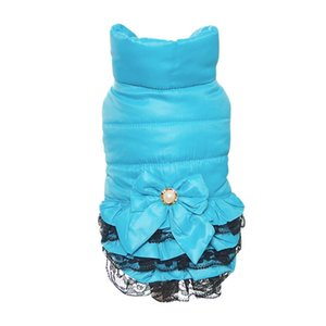 Warm cane dolce Dress vestiti di inverno Sweety Bowknot Pet Principessa Abiti per Puppy Gatti Teddy Dress all'ingrosso di inverno vestiti dell'animale domestico