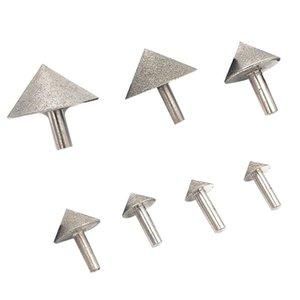 Elektroliz Diamond 20-50mm Koni Pah Taşlama Baş Taş Cam Pah Kafa Zımpara Aracı Aksesuar