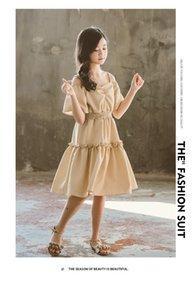 Gooporson милый корейский с плеча платье принцессы плед лето с коротким рукавом платья для девочек костюм Vestidos детские наряды