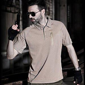 Im Freien schnellen trockenen Wandern T-Shirts Mann-Sommer-Coolmax Quick Dry Short Sleeve Tees Breath Military Tactical Soldaten Uniform