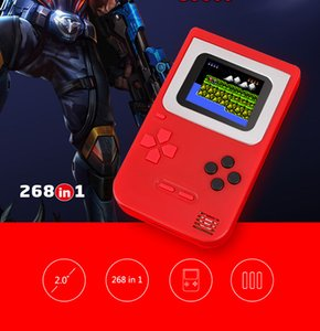 Nostalgic Children' s Game Player Classic Portable Mini Handheld Console HD Gift 268 in 1 Games 2.0'' Display Screen Support 3 Section Cell