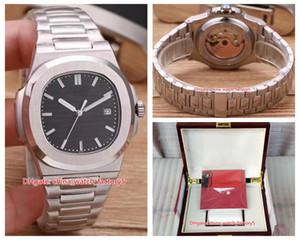 20 Стиль высокого качества Часы Классический 40,5 PP Nautilus 5711 / 1A 010 Asia Прозрачный Механические Автоматические Мужские Мужские часы с коробкой Papers