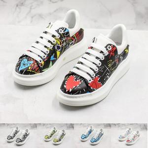 Platform Shoes Uomo Donna Designer Sneakers Poker Classic Doodle accresciuta cuoio genuino Nappa piani formatori casual con Box