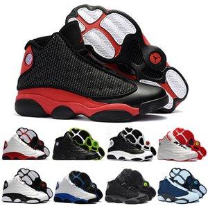 13s 13 Tênis de basquete Air JORDAΝ Sneakers Mens Bred Cap Flint e vestido de Chicago History of Flight GS sapatos Flint Sports 40-47