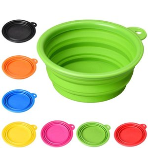 2020 Solid Color Pet Cat Dog Bowl Fold Folding Fisible Silicone Dog Feeder Water Container Food Container Foldable Style on Sale