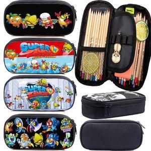 New Kids Super Zings Pattern Pencil Case Teens Stationery Bag Boys Girls Pencil Holder Child Superzings Pen Bag Students Gift