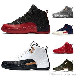 Xii 12 Mens Scarpe Da Basket Uomo 12s Midnight Black Flu Gioco Michigan Taxi Uny Winterize Designer Trainer Sport Sneaker Formato economico 41-47