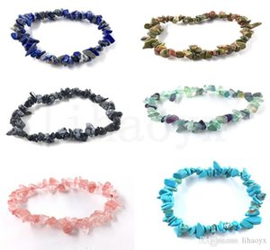 HOT Natural Healing Crystal Sodalite Chip Gemstone Stretch Bracelet Natural Mixed Gemstone Chakra Fashion Bracelet Lover Bracelets dc442
