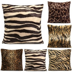 Animal Print Pillow Case Leopard Zebra Sofa Car Cushion Cover Bed Decor Bath Pillows for home bedroom room office coffee shop