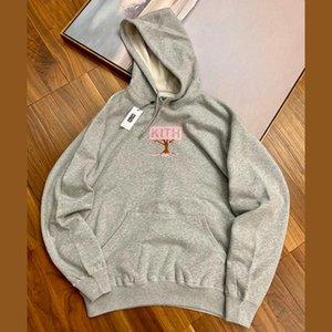 KT Treat Tokio El Hanami Sakura insignia de la caja con capucha de manga larga con capucha para niños camisa suéter rosado gris hombres mujeres pareja Calle HFHLWY108