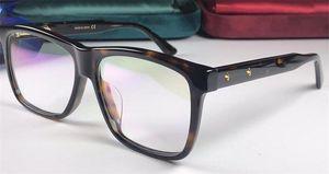 New glasses prescription eyewear frame squre frame designer fashion style top quality transparent lens with original case 0268