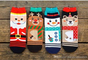 Underwear Socks Winter Printed Short Cotton Socks Mens Designer Fashion Socks Christmas Style Cartoon Casual Male