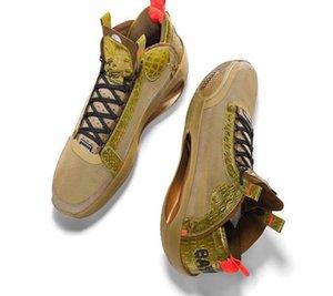 Nuovo DS AJ34 PE Bayou Ragazzi Sion Williamson Marrone Oro pallacanestro Scarpe 2020 Scarpe Jumpman XXXIV Uomini Sport con la scatola Dimensioni 7-12