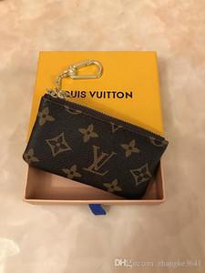 4 couleurs SACHET cuir KEY tient porte-clés Damier de haute qualité des femmes célèbres de créateurs classiques Porte-monnaie en cuir petit portefeuilles clés