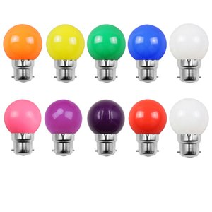 Pack of 10 2W LED Coloured Light Bulb B22 Bayonet Festoon Globe Bulb for Outdoor Indoor String,Christmas,Tree,Fairy Party Night Lights