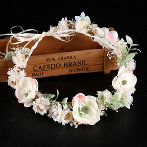 Moda Donna Bianca Fiore diademi e Corona corona di fiori della fascia delle donne Garland Hearwear copricapo Wedding Accessori per capelli