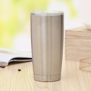 Tasse de café 20 oz vide en acier inoxydable Gobelet isolant grande capacité large bouche chopes à bière Verre à vin Voyage voiture Bouteille d'eau DBC VT1191