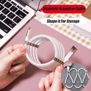 Cable de datos USB cargador Android TypeC magnético Organizador Micro-USB tipo C V8 Plug 5V 2.4A para Samsung Nota 10 Note9 S9 Huawei P20 P30