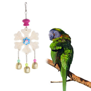 Bird Toys Small Pet Supplies Loofah Chew Bird Swing Toy para loros