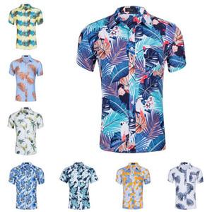 Новый 30colors летом Гавайский стиль пляжа 3D графических пальмового дерева кокоса цветочные мужчины печать случайных рубашек Aloha Holiday Beach Лучших Рубашки