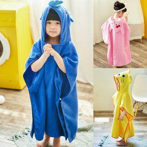 Toddler Kid Cartoon Hooded Plush Robe Animal Pajamas Bathrobe Sleepwear