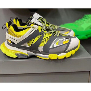 2020New color high quality new track Paris Triple S 3.0TRACK.2 TRAINERS gray orange casual shoes flat shoes Tess S.Gomma Trek35-45 kjh02