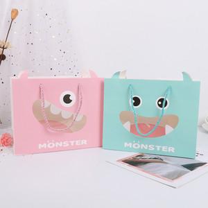 Çanta INS Karikatür Baskılı Kumaş Hediye Alışveriş Paketi Bags Ambalaj Kız Hediye Kağıt Bez Çanta Souvenir Hediyelik