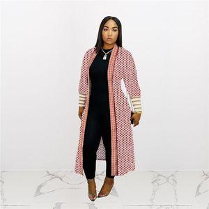 Uzun Kollu Hırka Coats Moda Kadın İlkbahar Casual Gevşek Giyim Lüks Tasarımcı Dış Giyim Dişli Desen Womens