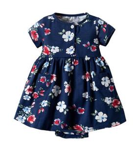 Hot sale Toddler Kid Baby Girl Short Sleeve Floral Dress Princess Romper Dresses Clothes Short Sleeve Floral Dress