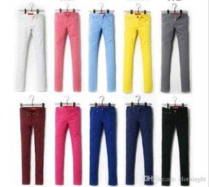 Jeans Femme Denim Pants Candy Color Womens Jeans Donna Stretch Bottoms Feminino Skinny Pants Pour Les Femmes Pantalons 2018 Tataria