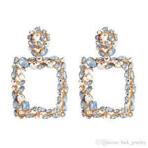 DHL Rhinestone Letters Brand Designer Earrings Women Bling Fashion Tassel Stud Earring Luxury Hoop Earrings Jewelry Gift