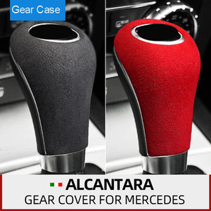 Алькантара замша обертывание переключения передач Cutch Ручка ошейники ABS Крышка Накладка для Мерседес W204 W212 W169 W219 W463 CLS C E A G Class